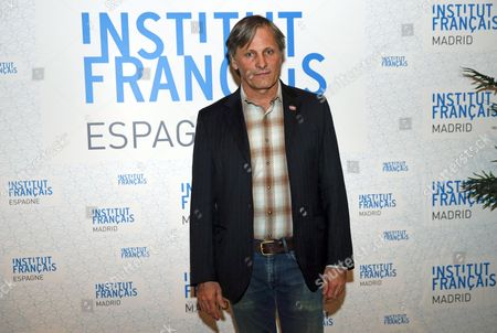 Danish-us Actor/cast Member Viggo Mortensen Poses During the Presentation of His Last Film 'Far From Man' at the Insitut Francais in Madrid Spain 26 November 2015 the Movie with the Original Title 'Loin Des Hommes' was Directed by French David Oelhoffen Spain Madrid