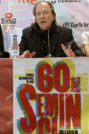 Stock Photo of Seminci International Film Festival Jury's President Serbian Film Maker Goran Paskaljevic Announces the Winners of the Festival During a Press Conference in Valladolid Spain 31 October 2015 the 60th Edition of the Festival Runs From 24 to 31 October Spain Valladolid