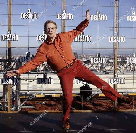 Stock Photo of French Funambulist Philippe Petit Poses During an Interview in Madrid Spain 09 December 2015 on Occasion of the 25 December Premiere of the Movie 'The Walk' in Which Us Director Robert Zemerick Relates the Life of Petit who Walked Across a Tightrope Between the Twin Towers of New York in 1974 Spain Madrid