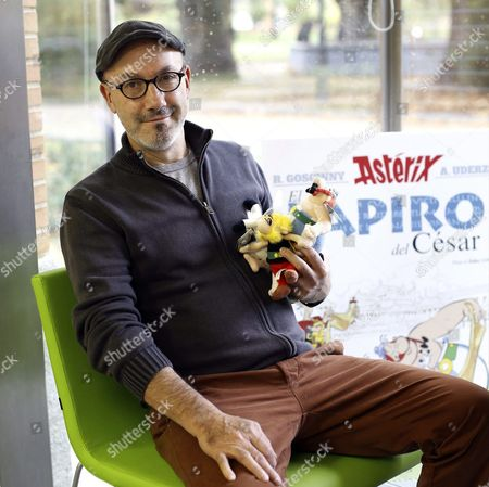 French Comic Book Writer Jean-yves Ferri Poses For Photographers During the Presentation of the 36th Album of the Adventures of Asterix and Obelix Entitled 'Caesar's Papyrus' in Madrid Spain 02 November 2015 This is the Second Comic Book of the Adventures of the Two Gauls Created by Ferri and French Illustrator Didier Conrad Spain Madrid