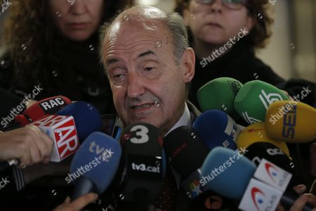 Lawyer of Spain's Princess Cristina Miquel Roca (c) Addresses the Media in Barcelona Northeastern Spain 29 January 2016 Roca Has Regretted That King Felipe Vi's Youngest Sister Will Face a Corruption Trial Next Month After Judges Decided not to Apply the So-called 'Botin Doctrine' the Princess is the First Member of the Spanish Royal Family Brought to Trial After She was Charged with Tax Fraud Due to the Corruption Case in Which Her Husband Inaki Urdangarin is Involved He is Accused of Embezzling About 6 Million Euros in Public Funds Through a Charity the Noos Institute Which He Ran From 2004 to 2006 Far-right Trade Union Manos Limpias Demands 8 Years of Prison For the Princess and 26 Years and 6 Months For Urdangarin While the General Attorney Asks For a 19 Year Sentence For Him Spain Barcelona