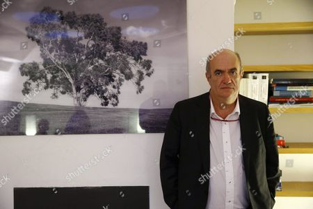 Irish Writer Colm Toibin Poses During an Interview Held in Madrid Spain 03 February 2016 to Present His Last Novel Nora Webster Spain Madrid