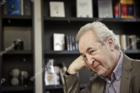 Irish Writer John Banville Poses For the Photographer During an Interview with Spanish Press Agency Agencia Efe in Madrid Spain 12 January 2016 Banville is in the Country to Present His Latest Novel 'The Blue Guitar' Spain Madrid