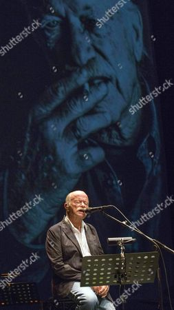 Italian Composer and Singer Gino Paoli Performs on Stage at Mar De Musicas Festival in Cartagena Southeastern Spain 20 July 2015 Spain Cartagena