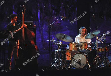 Us Jazz Drummer Terri Lyne Carrington (r) and Her Band Perform on Stage at the Jazz on the Coast Festival in Almunecar Southern Spain 19 July 2015 Spain Almunecar