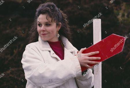 Nicola Strong (as Lorraine Nelson) on a fell run (Ep 1755 - 13th April 1993)
