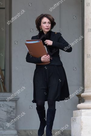 French Minister for Social Affairs and Health Marisol Touraine leaves the Elysee Presidential Palace