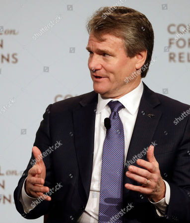 Brian Moynihan, Chairman and CEO of Bank of America, speaks at the Council on Foreign Relations, in New York