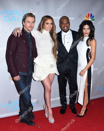 Derek Hough, Jennifer Lopez, Ne-Yo and Jenna Dewan