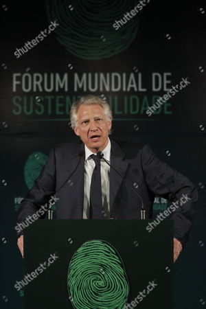French Former Prime Minister Dominique De Villepin Speaks During the Third World Forum on Sustainable Development in the City of Manaus Amazon Brazil 23 March 2012 Brazil Manaus