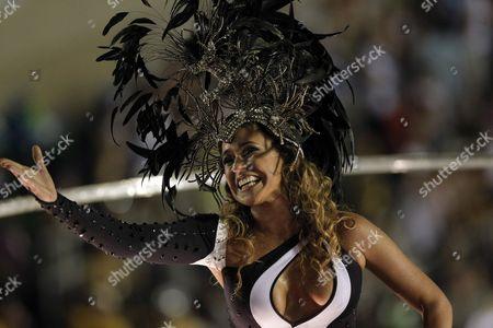 Brazilian Singer Daniela Mercury Preforms with Portela Samba School in the First Day of Parades of Carnival of Rio De Janeiro Brazil on 19 February 2012 Brazil Río De Janeiro