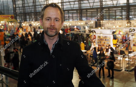 Stock Photo of A Picture Made Available on 25 May 2013 Shows British Actor Billy Boyd (pippin in 'The Lord of the Rings' Saga) Attending the Third Edition of the 'Comic with Chile' Event at the Mapocho Station in Santiago Chile on 24 May 2013 Thousands of Visitors Gather to Disguise As Their Favourite Comic Stars and Characters Discover New Creators Purchase Merchandise Or Simply Admire the Collections of the Most Inconditional Fans This Year 'Comic with Chile' is Attended by Boyd Along with His Canadian Colleague Nicholas Lea (alex Krycek in 'X Files') Epa/felipe Trueba Chile Santiago