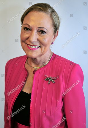 President of the Euroamerica Foundation Benita Ferrero-waldner Posing During a News Conference a Day Before of the First Summit of Community of Latin American and Caribbean States (celac) and European Union (eu) in Santiago Chile 23 January 2013 Chile Santiago