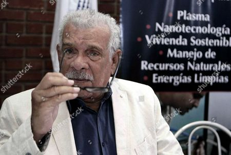 Stock Picture of Nobel Prize in Literature in 1992 Laureate Derek Walcott Gestures During a Press Conference in San Jose Costa Rica 22 August 2012 the Writer is the Guest of Honor of the International Book Fair of Costa Rica Which Will Start on 24 August Reports State Costa Rica San Jose
