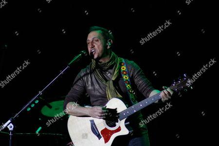 Venezuelan Musician Franco De Vita Performs During a Concert in Quito Ecuador 10 February 2012 Ecuador Quito