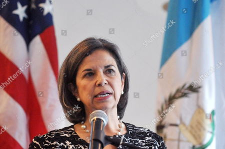 Us Undersecretary of State For Democracy and Global Affairs Maria Otero Speaks During a Press Conference at the Residence of Us Ambassador in Guatemala Arnold Chacon Guatemala City Guatemala 30 November 2011 Us Government Ratified a Bill to Strengthen Democracy and Respect of Human Rights in the Country Guatemala Guatemala City