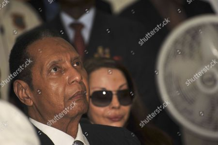 Haiti's Former President Jean Claude Duvalier Accused Over Crimes Against Humanity and Embezzlement Attends a Hearing Before the Tribunal of Appeals of Port-au-prince Haiti on 28 February 2013 Duvalier Began to Answer Questions From the Judges who Questioned Him About Different Aspects of His Presidency (1971-1986) in a Courtroom That was Crowded by Dozens of Journalists Representatives of Human Rights Organizations and Plaintiffs Haiti Port-au-prince