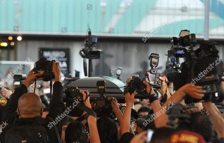 Photographers Take Pictures of the Coffin of Mexican Singer Chavela Vargas During His Funeral in Mexico City Mexico 06 August 2012 the 93 Year Old Artist Died on 05 August Due to Respiratory Failure Mexico Mexico