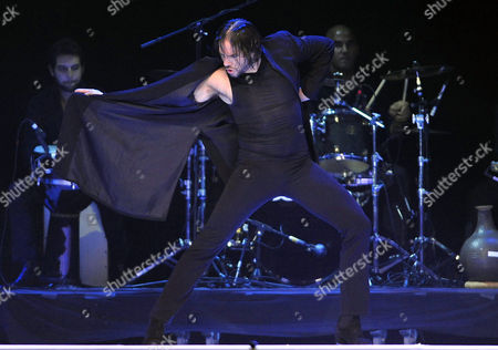 Spanish Flamenco Dancer Joaquin Cortes Performs During His Show Called 'Gypsy' at the Banamex Auditorium in Monterrey Mexico 17 October 2012 Mexico Monterrey