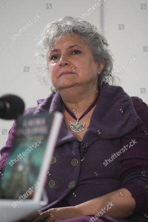Mexican Writer Laura Esquivel Speaks During a News Conference in Mexico City Mexico 21 June 2012 Esquivel Called on the Mexican People to Make the Needed Change in Mexico and Expressed Her Support For Mexican Presidential Candidate Andres Manuel Lopez Obrador of the Center-left Coalition Mexico Mexico City