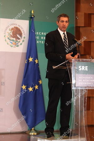 European Union Special Representative For Human Rights Stavros Lambrinidis Speaks During a Press Conference in Mexico City Mexico 19 October 2012 Mexico Mexico City