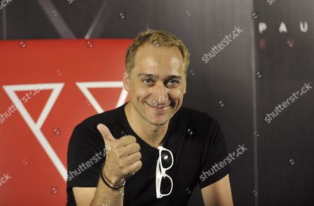 German Dj Paul Van Dyk Pose For the Pictures During a Press Conference in Mexico City at the Presentation of His Latest Work Titled 'Evolution' 13 July 2012 Van Dyk Said Sees Both the Acta and Other Antipiracy Laws As Being 'Outdated' and Called For Promoting 'Understanding' Between Artist and Users of Online Music Mexico Mexico City