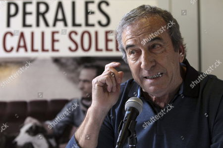 Spanish Singer Jose Luis Perales Adresses a Press Conference in Mexico City Mexico 27 November 2012 Perales is Promoting His Latest Work 'Calle Soledad' and His Concert at the Auditorio Nacional Mexico Mexico City