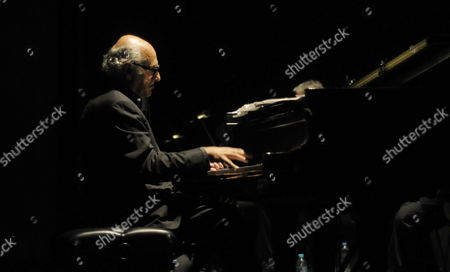 British Musician Michael Nyman Plays the Piano During His Concert Part of the Tour Film and Music at the City's Theater in Mexico City 22 November 2012 Mexico Mexico City