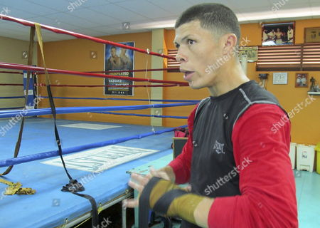 Puerto Rican Boxer Roman 'Rocky' Martinez During a Trainning Session in San Juan Puerto Rico 27 March 2013 Martinez Said He's in His Best Condition to Defend His Light Junior Title of World Boxing Organization (wbo) Against Mexican Diego Magdaleno on 06 April 2013 in Macao China Puerto Rico San Juan