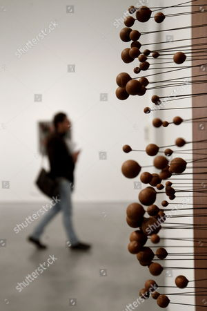 View of the Artwork 'Little Balls' by Belgian-born Sculptor Pol Bury During the Presentation of the Exhibition 'The Concrete Invention the Patricia Phelps De Cisneros Collection' at Reina Sofia Museum in Madrid Spain 21 January 2013 the Show Will Run Until 16 September 2013 Spain Madrid
