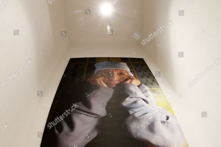 Stock Photo of A Photograph Taken by Alex Van Gelder in 2009 Showing Late French Artist Louise Bourgeois is Displayed at a Solo Exhibition of the Late Works of Louise Bourgeois at La Casa Encendida in Madrid Spain 18 October 2012 the Exhibition Entitled 'A Woman with No Secrets' Runs From 18 October 2012 to 13 January 2012 Spain Madrid