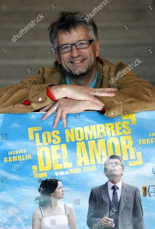 French Film Maker Michel Leclerc Poses For the Photographers As He Presents His Last Comedy 'The Names of Love' in Madrid Spain 13 March 2012 the Movie Will Be Released on Spanish Theatres on 16 March 2012 Spain Madrid