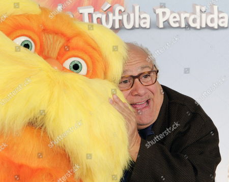 Us Actor Danny De Vito During the Presentation of the Animation Film 'The Lorax' in Madrid Spain 08 March 2012 Spain Madrid