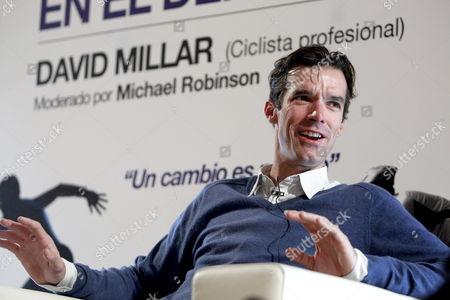 British Cyclist David Millar From Garmin-sharp Team Talks About His Experience with Performance-enhancing Drugs As He Takes Part in the First Debate on Health and Doping in Sports Organized by the Spanish National Anti-doping Agency (aea) in Madrid Spain 18 January 2013 Spain Madrid
