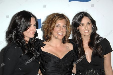 Courteney Cox, Kirsten 'Kiwi' Smith and Demi Moore