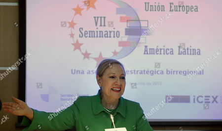 Benita Ferrero-waldner President of European Union Latin America and Caribbean Foundation (eu-lac Foundation) Attends a Conference on 'Strategic Partnership Among the Continents' Held in Madrid Spain 20 June 2013 Spain Madrid
