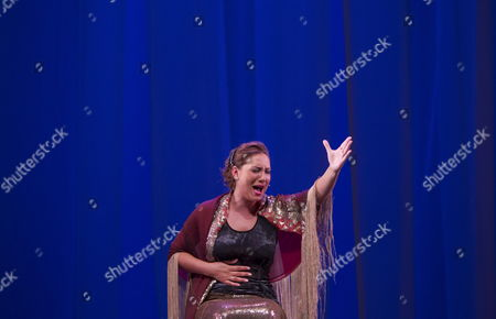 Flamenco Singer Marina Heredia During a Rehearsal of the Show 'A Mi Tiempo' (lit: at My Time) Which Will Premiere Tonight at Maestranza Theater in Seville Spain 10 September 2012 Spain Seville