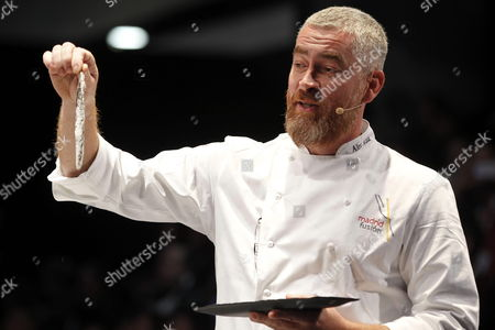 Brazilian Chef Alex Atala Participates in the Conference 'Brazil Pre-portugal' During the International Gastronomy Summit 'Madrid Fusion' at Ifema Exhibition Site in Madrid Spain 23 January 2013 the Event Takes Place From 21 to 23 January 2013 More Than 100 Chefs Will Be Able to Interact with Visitors with 30 Unseen Demonstrations 40 New Products and 18 Workshops Spain Madrid