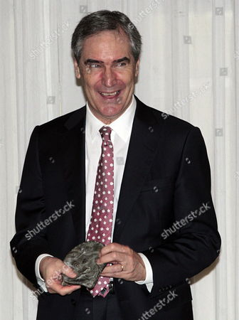 Canadian Writer Michael Ignatieff Poses with 'Francisco Cerecedo' Journalism Award During the Event at Ritz Hotel in Madrid on 20 November 2012 Spain Madrid