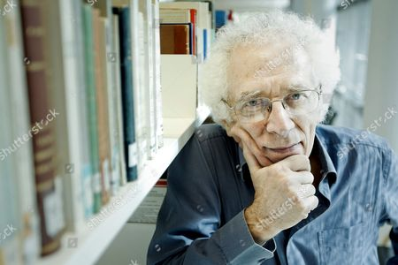 Stock Image of Franco-bulgarian Philosopher and 2008 Prince of Asturias Award For Social Sciences Tzvetan Todorov Poses For the Photographer During the Presentation of His Book 'Individual's Praise' in Madrid Spain 19 April 2013 Spain Madrid