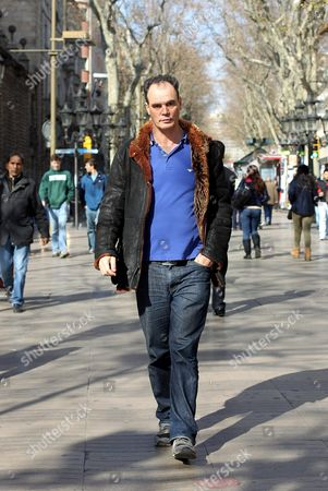 British Writer Jake Arnott Walks Along the Ramblas Avenue in Barcelona Spain 08 February 2012 After an Interview with Spanish News Agency Agencia Efe About His Latest Work 'Truecrime' Spain Barcelona