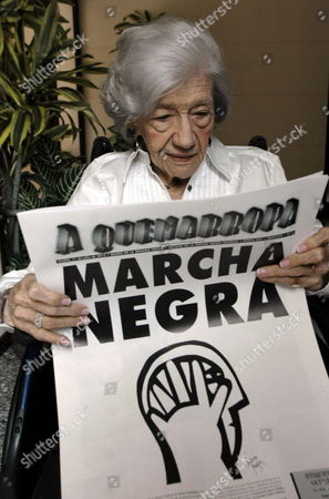 Spanish Writer Ana Maria Matute Reads the Official Newspaper of the Thriller Novel Fair 'Semana Negra' (black Week) in Gijon Asturias Northern Spain 11 July 2012 where She is Attending As Guest Spain Gijon