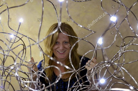 Stock Image of British Writer Suzanne Joinson Poses During an Interview with Spanish News Agency Efe in Segovia Spain 29 September 2012 Joinson Participates in Hay Festival After Her Successfull Novel 'A Lady Cyclists Guide to Kashgar' Translated in 14 Languages Spain Segovia