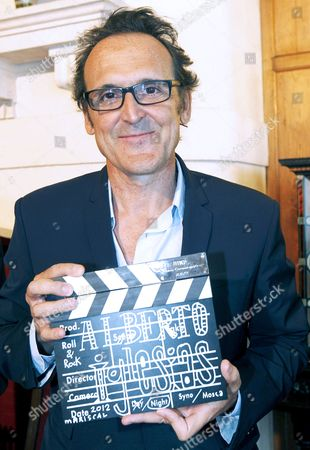 Spanish Musician and Composer Alberto Iglesias Poses For the Media After Receiving the 4th International Menendez Pelayo University Award at La Maladalena Palace in Santander Cantabria Northern Spain 27 August 2012 Spain Santander