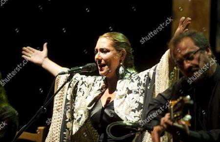 Spanish Flamenco Singer Marina Heredia Performs on Stage Her Show 'Recital De Corte Clasico' During Cante De Las Minas International Festival at La Union Murcia Southeastern Spain 06 August 2012 Spain La Union