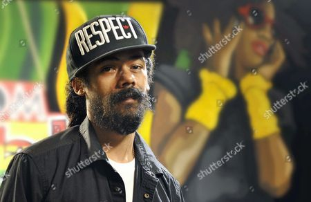 Jamaican Reggae Singer Damian 'Jr Gong' Marley Poses For the Media Prior to Performing at the Closing Concert of the Rototom Sunsplash Festival in Benicassim Spain 24 August 2013 Spain Benicasim (castellón)