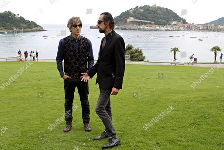 The Spanish Duo 'Duncan Dhu' Mikel Erentxun (l) and Diego Vasallo (r) Pose For Photographers During the Presentation of Their New Album 'El Duelo' (the Duel) at the Miramar Palace in San Sebastian Spain 27 August 2013 Spain San Sebastian
