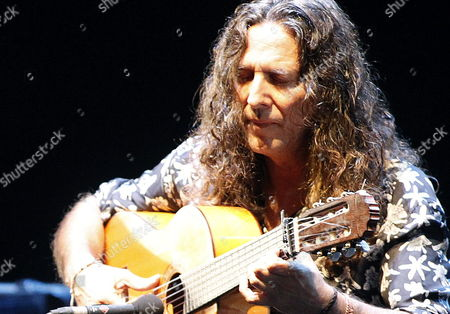 Spanish Flamenco Guitarist Jose Fernandez Torres 'Tomatito' Performs on Stage During His Village Summers Concert at Sabatini Gardens in Madrid Spain 10 August 2013 Spain Madrid