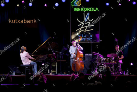 Italian Pianist Stefano Bollani (l) Performs Onstage During His Concert on the Occasion of the 36th Vitoria-gasteiz Jazz Festival in Vitoria Spain 17 July 2012 Spain Vitoria