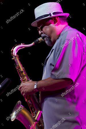 Us Saxophonist Joe Lovano of Soundprints Quintet Performs on Stage During Their Concert Held on the Occasion of the 36th Edition of the Victoria Jazz Festival of Vitoria-gasteiz Basque Country Spain on 17 July 2012 Spain Vitoria
